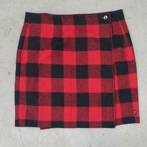 Woolrich Women's Richville Wool Buffalo Skirt sz 8